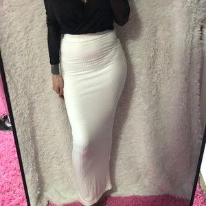 JLUXLABEL long white skirt